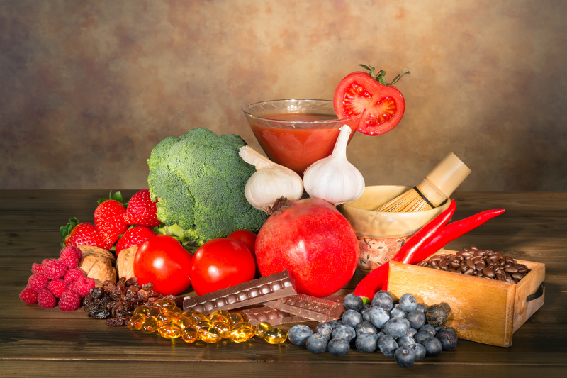 healthy superfoods used as antioxidants