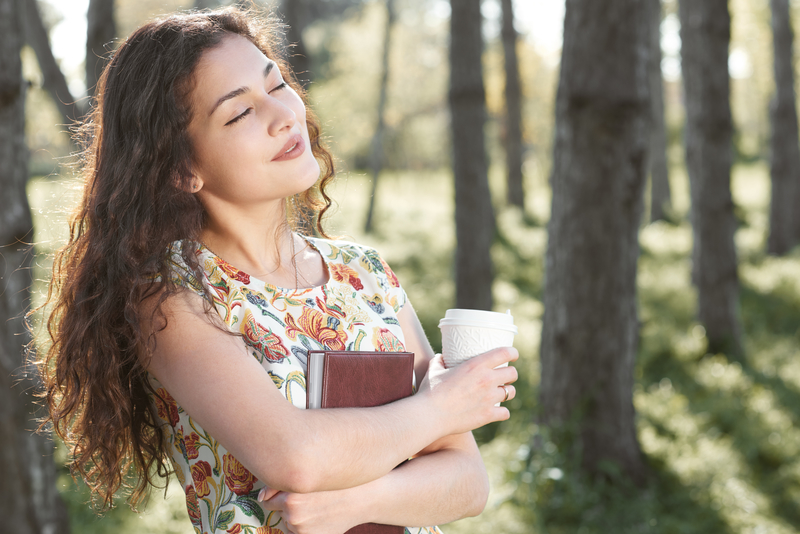 woman enjoying vitamin d